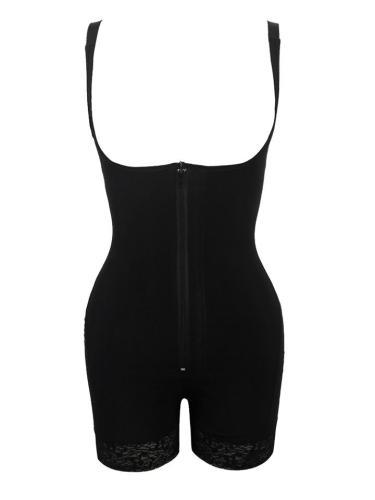 Plus Size Zipper Design Lace Hem Body Shaper