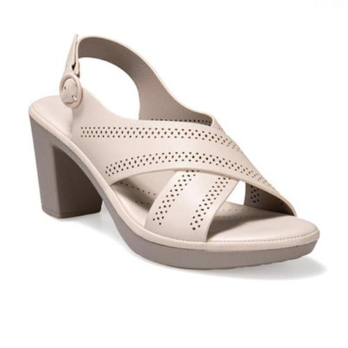 Summer Comfortable Hollow Design Chunky Heel Sandals