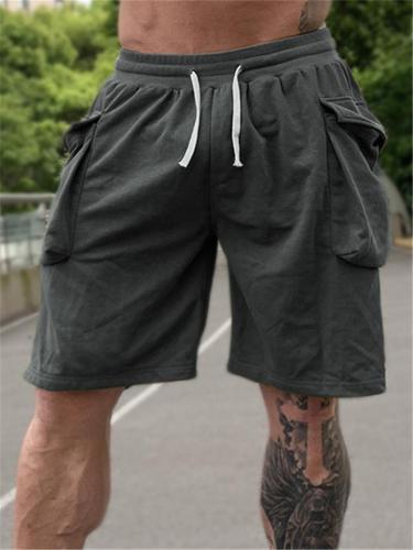 Mens Fashion Casual Loose Sports Drawstrinfg Shorts
