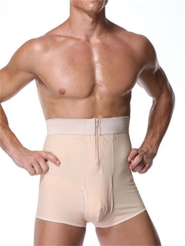 Men's Super Elastic Zipper High-Waisted Butt-Lifting Shapewear