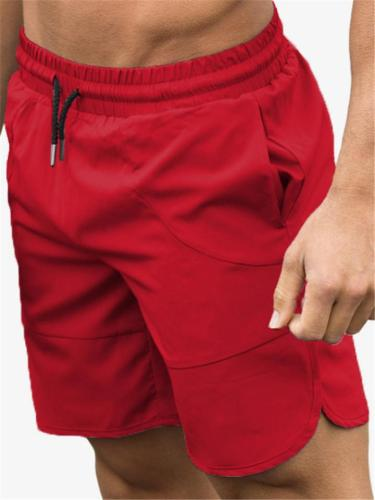 Mens Jogging Comfy Solid Color Gym Shorts