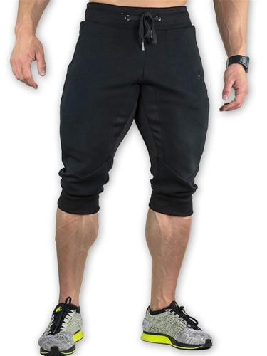 Mens Gym Patchwork Running Ankle Pants