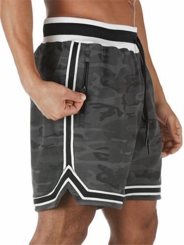 Mens Quick Dry Vertical Basketball Running Sweat Shorts