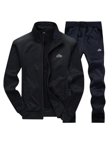 Mens Gym Fashion Knited Casual Outwears+Pants