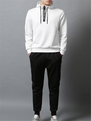 Mens Fashion Casual Plain Atheletic Active Hoodies+Pants