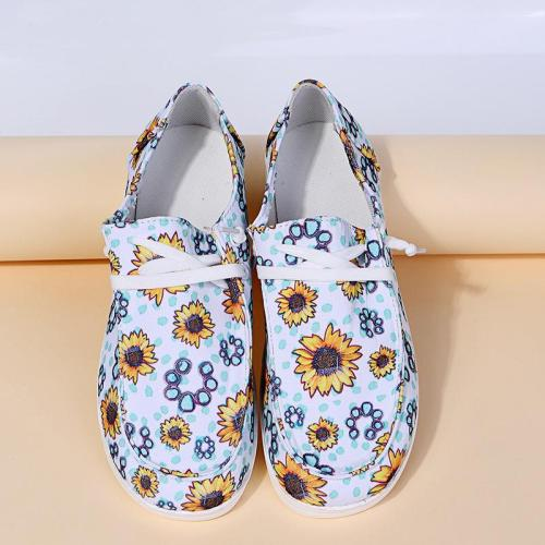 Women's Casual Breathable Printed Canvas Shoes