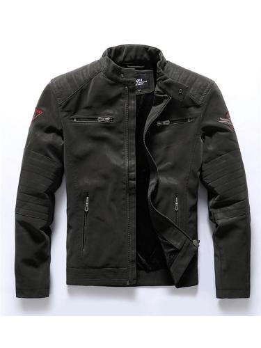 Mens Warm Outdoor Motorcycle Fashion Knitted Jackets