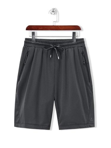 Mens Soft Breathable Quck Dry Loose Casual Knee Shorts