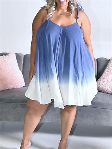 Fashion Loose Lace Design Printed Dress