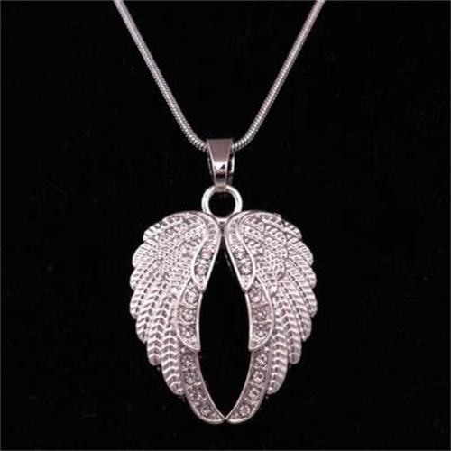 Fashion Diamond Decoration Angel Wings Necklace