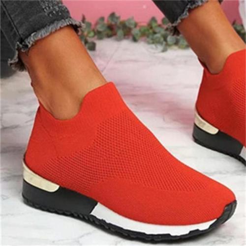 Women's Lightweight Leisure Slip on Stretch Cloth Loafers
