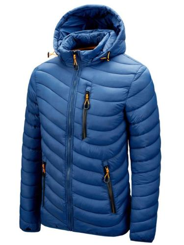 Mens Warm Lining Anti-Theft Down Coats With Removable Hood