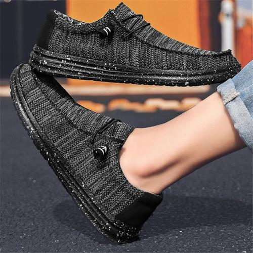Mens Casual Breathable Wearable Comfy Stitching Hipster Canvas Loafers