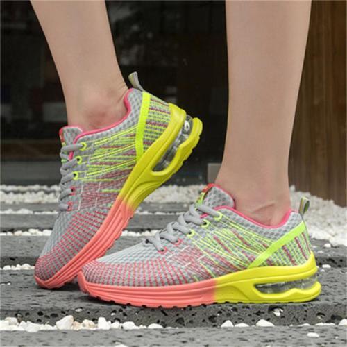Fashion Contrast Color Design Mesh Sports Air Cushion Casual Shoes