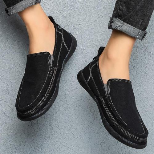 Mens Comfy Breathable Patchwork Canvas Casual Loafers