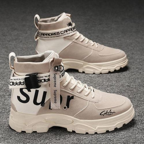 Mens Hipster Comfy Non Slip Personality Cargo Boots