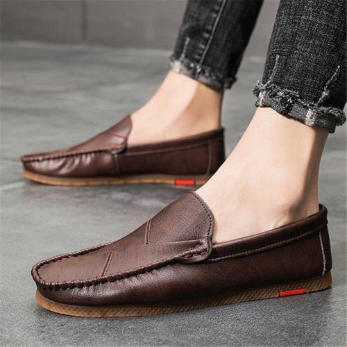 Mens Breathable Wearable Comfy Soft Casual Leather Loafers
