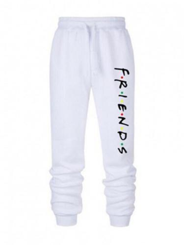 Women's Mid-Waist Printed Casual Pencil Pants Sweatpants