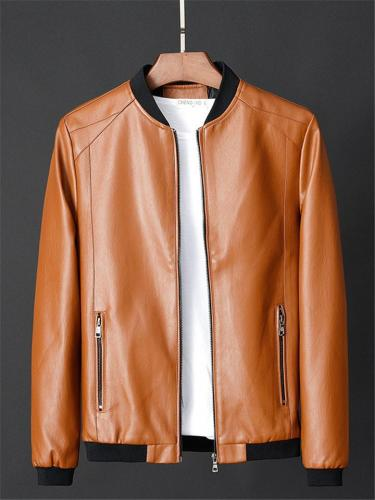 Mens Fashion Patchwork Motorcycle LightweIght Windproof Jackets