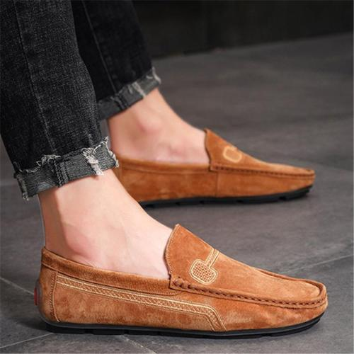 Mens Fashion Non Slip Breathable Wearble Solid Color Casual Loafers