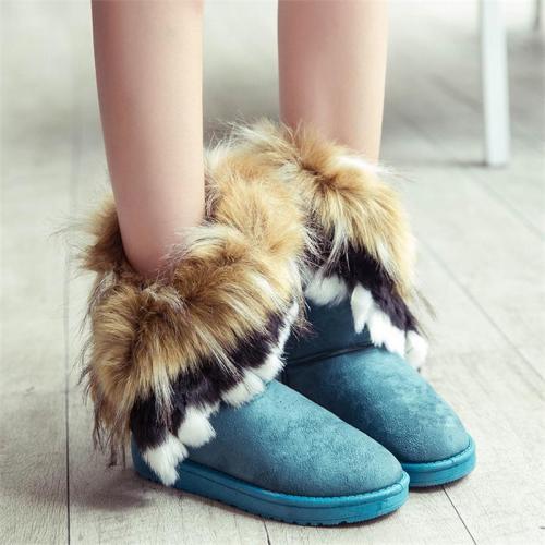 Women's Super Warm Mid-Tob Fashion Fur Snow Boots