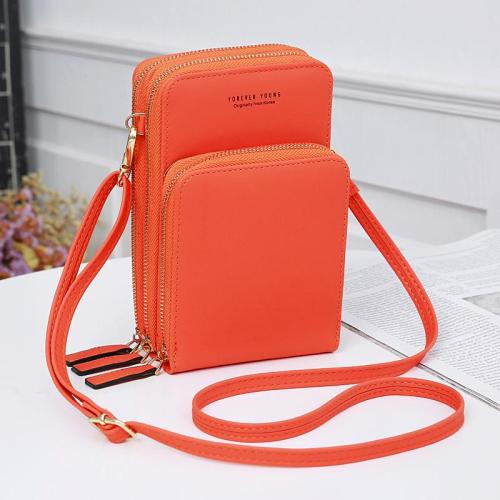 Casual Style Multiple Compartment Adjustable Shoulder Strap Phone Holder Currency Wallet