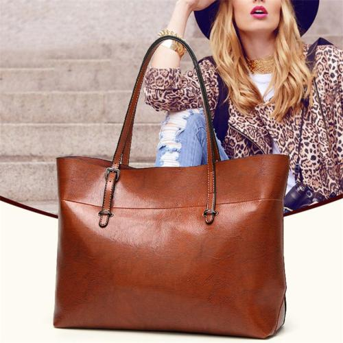 Vintage Style Casual Spacious Interior Multiple Compartments Shoulder Tote Bag