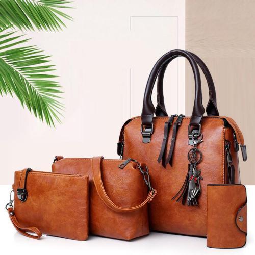 4-Piece Set Large Capacity Cute Pendant Decoration Crossbody Bag Wallet Shoulder Bag