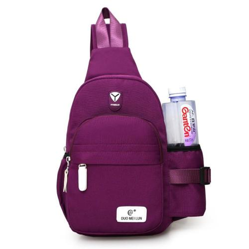 Traveling-Use Chest Bag Outdoor Activities Waterproof Bottle Pocket Crossbody Bag Rucksack