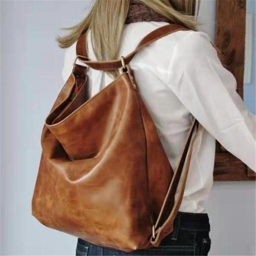 Vintage Style Two-Way Carry Adjustable Shoulder Strap Soft Touch Backpack Shoulder Bag