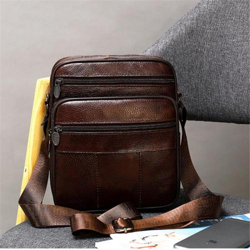 Vintage Fashion Casual Leather Messenger Bag With Large Capacity
