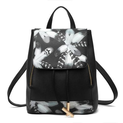 Minimalist Style Drawstring Zipper Adjustable Shoulder Strap Casual Backpack