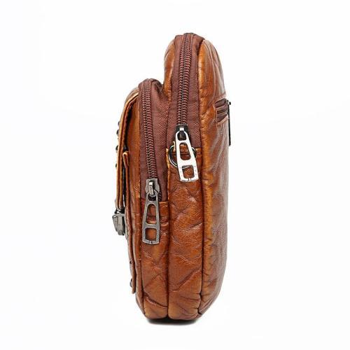 Adjustable Shoulder Strap Textured Design Multiple Compartment Phone Holder Crossbody Bag