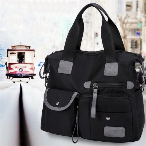 Multi-Pocket Zip Fastening Adjustable Shoulder Strap Top-Handled Crossbody Bag