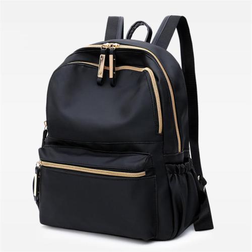 Fashionable Casual Gold-Tone Hardware Multi-Pocket Lightweight Backpack