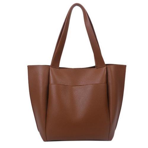 On-Trendy Large Capacity Ultra-Soft Material Slip Pocket Shoulder Bag Tote Bag