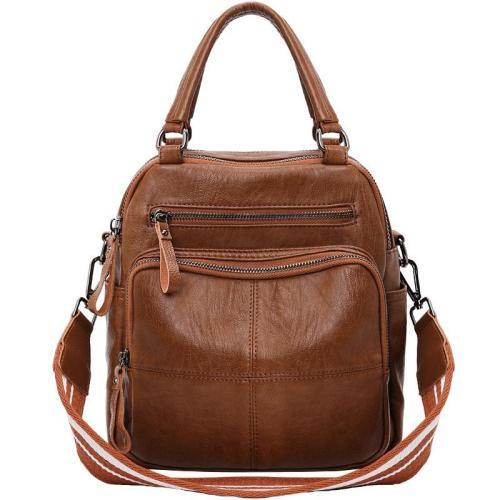 Retro Style Waterproof Multi-Way To Carry Double Top Handle Internal Slip Pocket Crossbody Bag