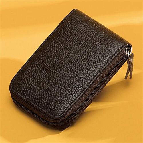 Unisex Creative Organ Card Holder Leather Large-Capacity Wallet