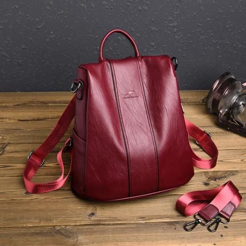 Two-Way To Carry Back Zip Fastening Adjustable Shoulder Strap Soft Material Backpack