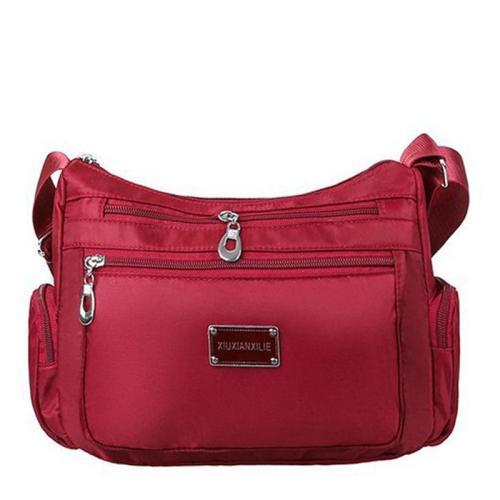 Multiple Compartment Zip Fastening Adjustable Shoulder Strap Waterproof Crossbody Bag