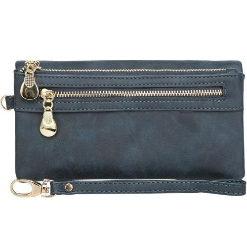 Lightweight Wallet with Internal Slot Pocket and External Zipper Pocket for Banknote and Coins