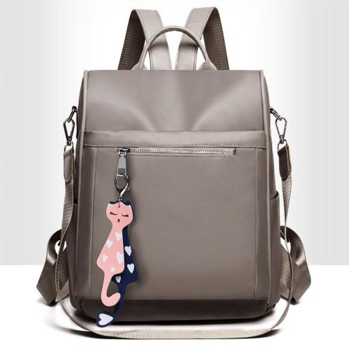 Casual Style Waterproof Cute Cat Pendant Anti-Theft Backpack Two-Way To Carry