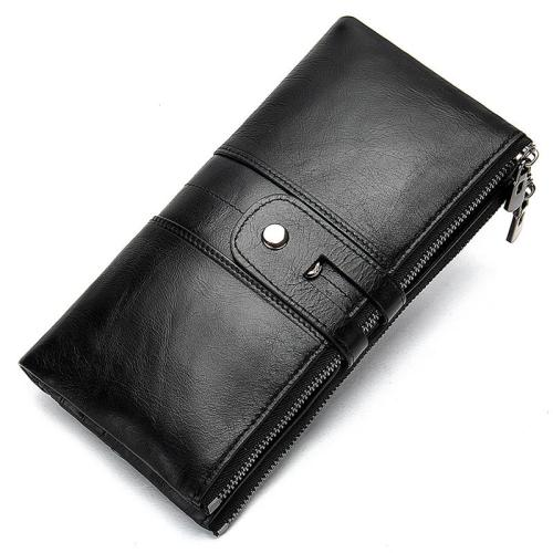 Women's Leather Multifunctional Clutch Fashion Antimagnetic Wallet