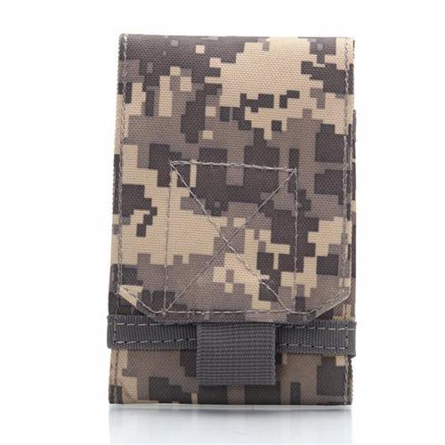Unisex Fine Stitching Retro Style Camouflage 5 Inch Mini Phone Holder