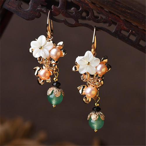 Exquiaite Personality Retro Pearl Pendant Drop Dangle Earrings