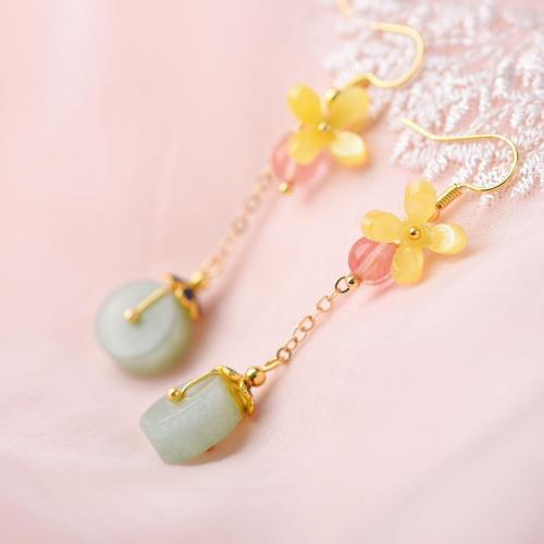 Elegance Tassel Vintage Contrast Color Pendant Drop Earrings
