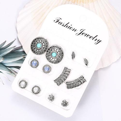 Creative Animal Flower Retro Style Earring Set