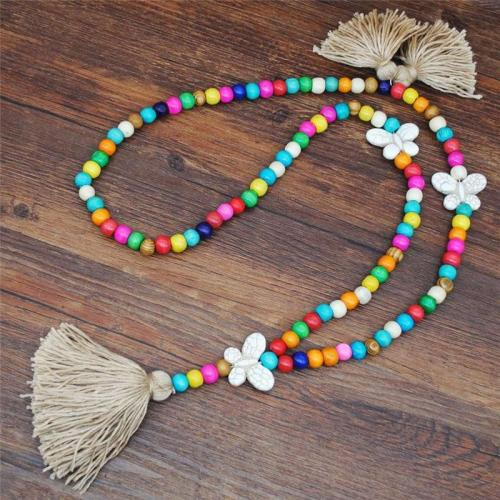 Colorful Bohemian Chunky Braided Vintage Long Necklace
