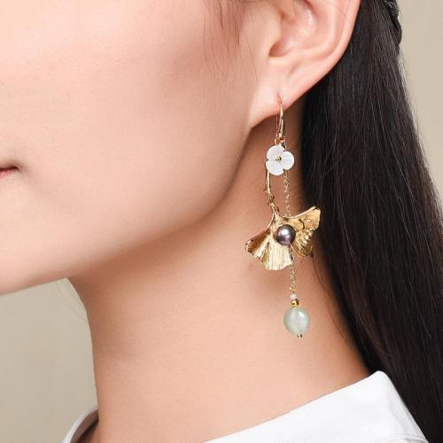 Personality Trendy Vintage Irregular Flower Pendant Dangle Earrings
