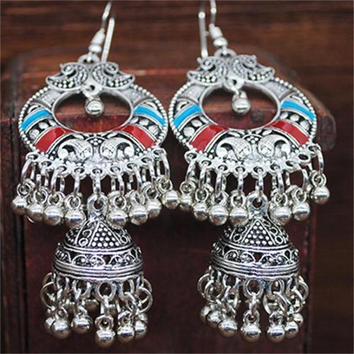 Colorful Bohemian Vintage Round Tassel Earrings